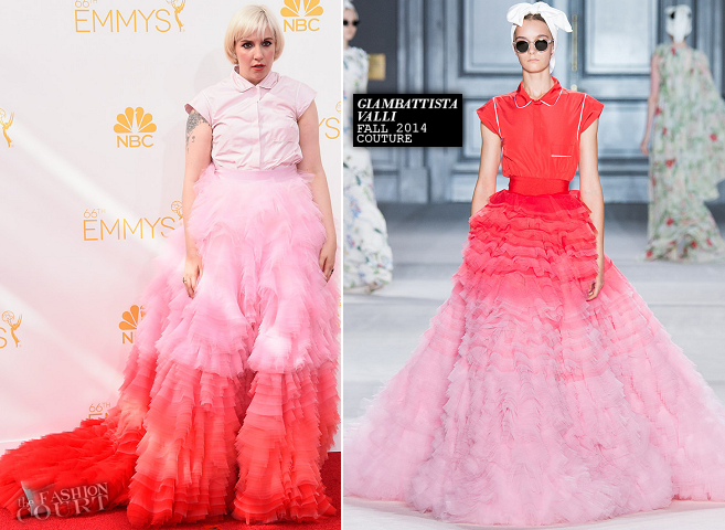 Lena Dunham in Giambattista Valli Couture | 2014 Emmy Awards
