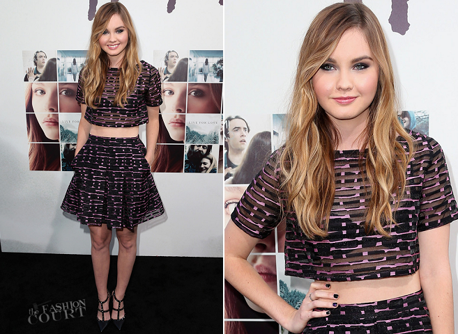Liana Liberato in Philosophy | 'If I Stay' Hollywood Premiere
