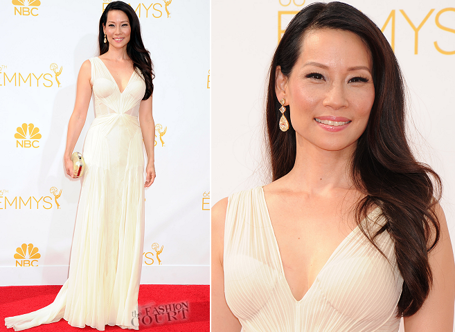 Lucy Liu in Zac Posen | 2014 Emmys