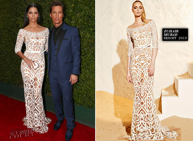 Matthew McConaughey in Dolce & Gabbana and Camila Alves in Zuhair Murad | 2014 Emmys
