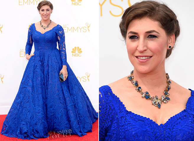Mayim Bialik in Oliver Tolentino | 2014 Emmys