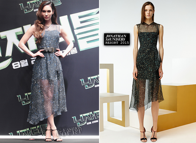 Megan Fox in Jonathan Saunders | 'Teenage Mutant Ninja Turtles' Seoul Photocall