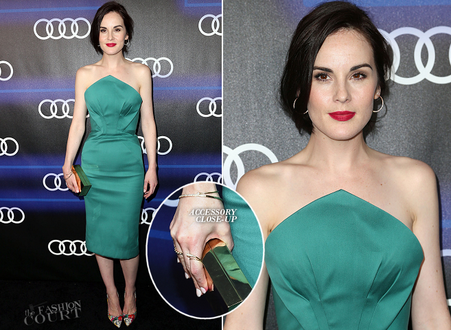 Michelle Dockery in Zac Posen | Audi Celebrates Emmys' Week 2014