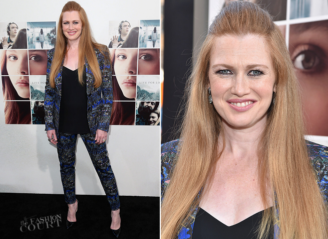 Mireille Enos in ETRO & Express | 'If I Stay' Hollywood Premiere
