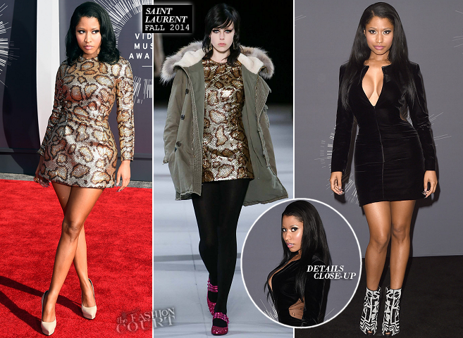 Nicki Minaj in Saint Laurent | 2014 MTV Video Music Awards