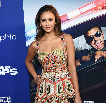Nina Dobrev in Zuhair Murad | 'Let's Be Cops' Hollywood Premiere