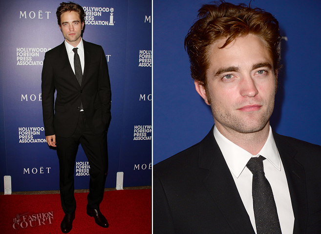 Robert Pattinson in Gucci | HFPA Grants Banquet 2014