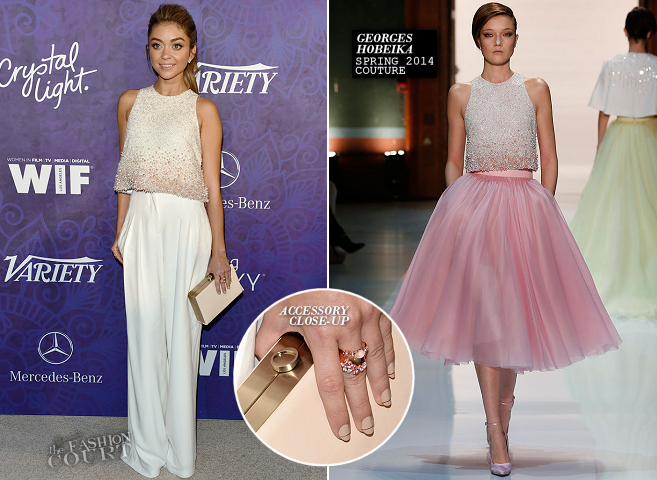 Sarah Hyland in Georges Hobeika Couture | Variety and WIF Emmy Nominee Party 2014
