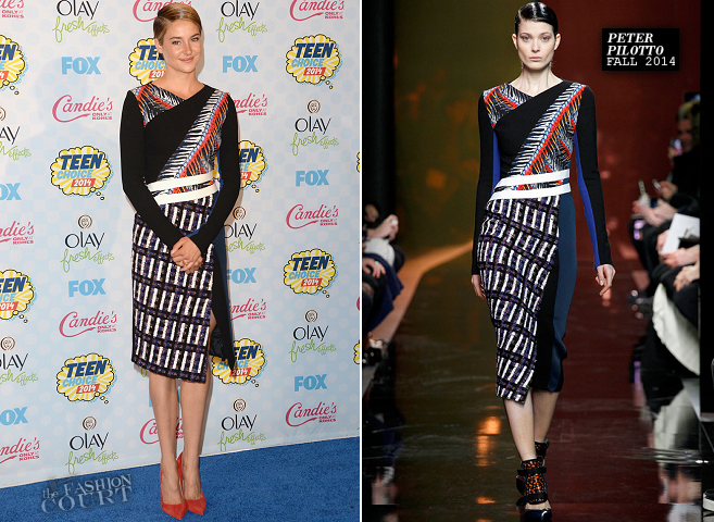 Shailene Woodley in Peter Pilotto | 2014 Teen Choice Awards