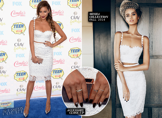 Shay Mitchell in Misha Collection | 2014 Teen Choice Awards
