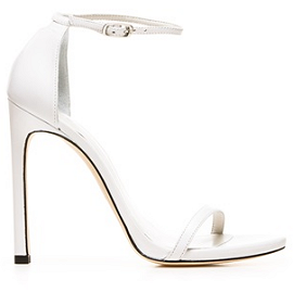 Stuart Weitzman 'Nudist' White Sandals