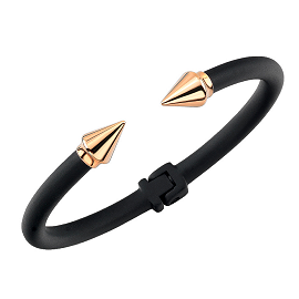 Vita Fede Black Mini Titan Two Tone Bracelets in Gold