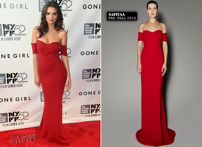 Emily Ratajkowski in SAFiYAA | 'Gone Girl' Premiere - 2014 New York Film Festival