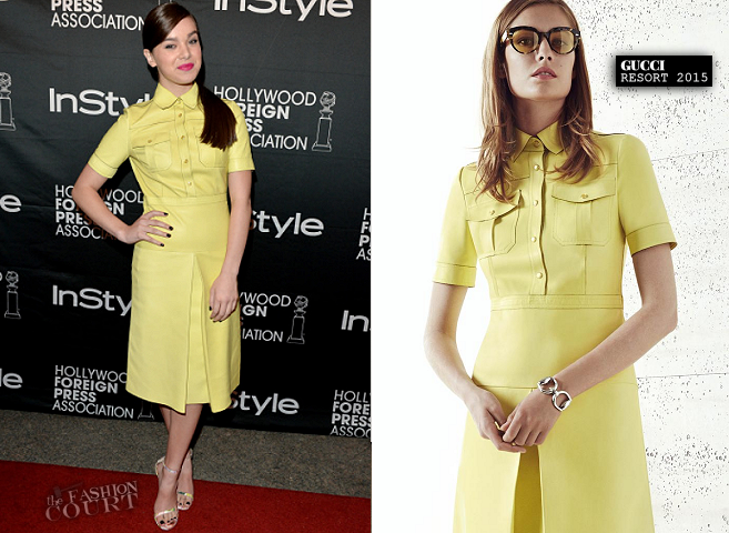 Hailee Steinfeld in Gucci | 2014 TIFF – HFPA / InStyle Party