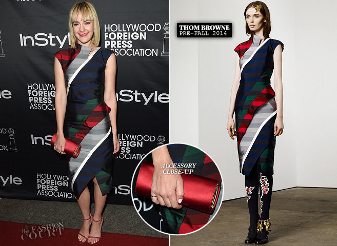 Jena Malone in Thom Browne | 2014 TIFF – HFPA / InStyle Party