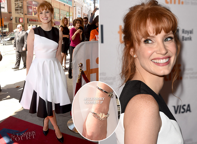 Jessica Chastain in Dior | 'Miss Julie' Premiere - 2014 Toronto International Film Festival