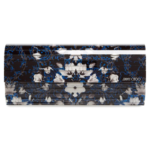 Jimmy Choo 'Sweetie' Acrylic Floral Clutch