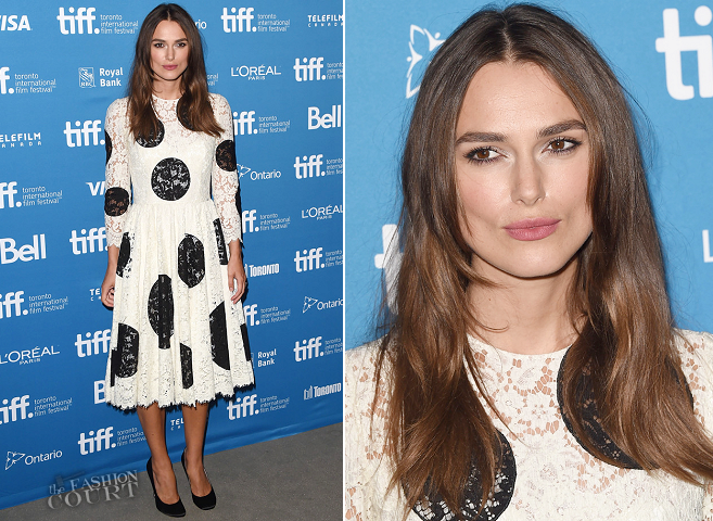 Keira Knightley in Dolce & Gabbana | 'The Imitation Game' Photocall - 2014 Toronto International Film Festival