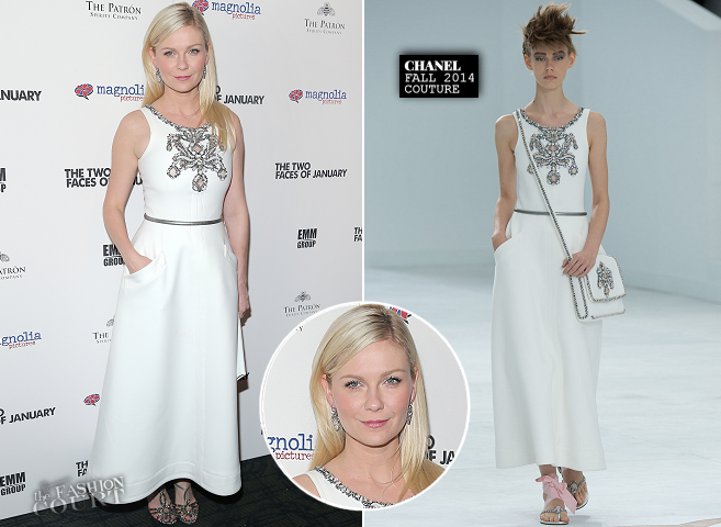 Kirsten Dunst in Chanel Couture | 'The Two Faces of January' NYC Premiere