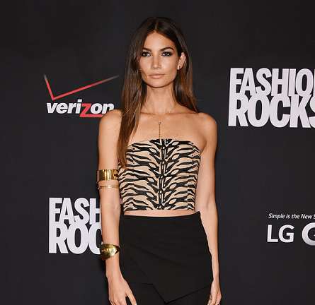 Lily Aldridge in Sally LaPointe | Fashion Rocks 2014
