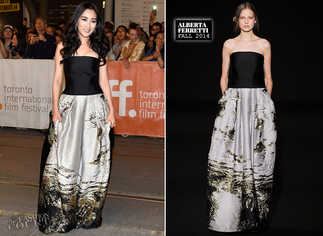 Ma Su in Alberta Ferretti | 'Breakup Buddies' Premiere - 2014 Toronto International Film Festival
