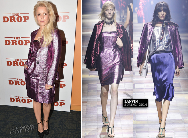 Noomi Rapace in Lanvin | 'The Drop' NYC Premiere