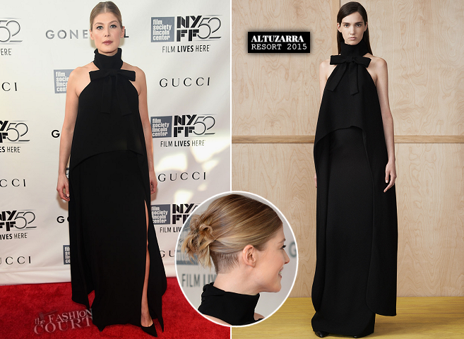 Rosamund Pike in Altuzarra | 'Gone Girl' Premiere - 2014 New York Film Festival