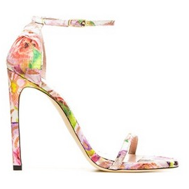 Stuart Weitzman NUDIST Floral Sandals