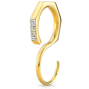 Vita Fede Duo Octagon Crystal Ring