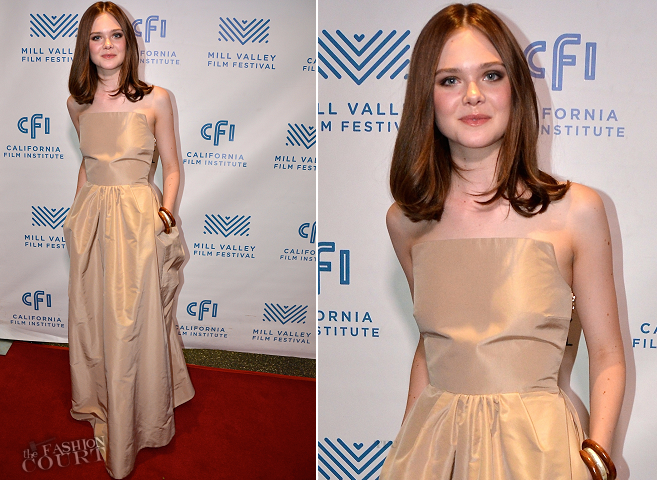 Elle Fanning in Rochas | 'Low Down' Screening - 2014 Mill Valley Film Festival