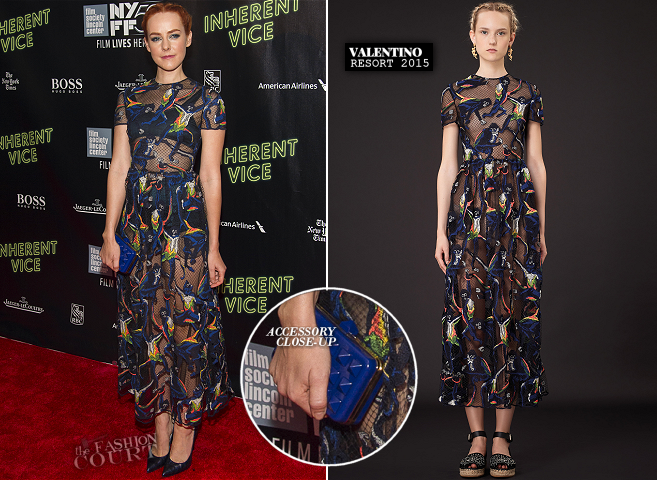 Jena Malone in Valentino | 'Inherent Vice' Premiere - 2014 New York Film Festival