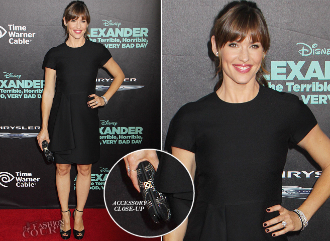 Jennifer Garner in Valentino | 'Alexander and the Terrible, Horrible, No Good, Very Bad Day' Hollywood Premiere