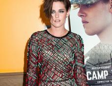 Kristen Stewart in J. Mendel | 'Camp X-Ray' NYC Premiere