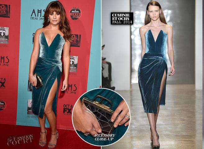 Lea Michele in Cushnie et Ochs | 'American Horror Story: Freak Show' Premiere
