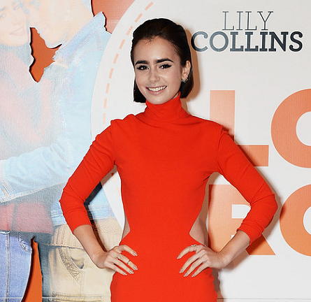 Lily Collins in Solace London | 'Love, Rosie' London Premiere