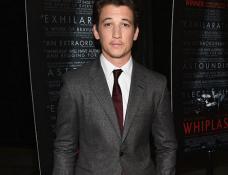 Miles Teller in Prada | 'Whiplash' LA Premiere