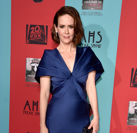 Sarah Paulson in Zac Posen | 'American Horror Story: Freak Show' Premiere