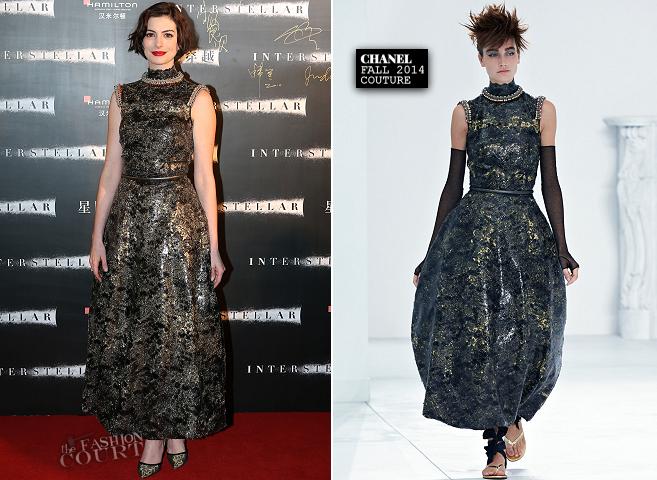 Anne Hathaway in Chanel Couture | 'Interstellar' Shanghai Premiere