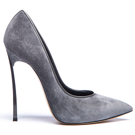 Casadei 'BLADE' Grey Suede Pumps