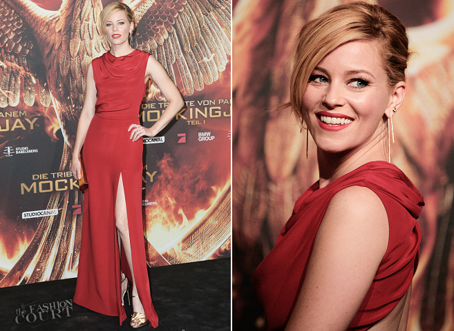 Elizabeth Banks in Saint Laurent | 'The Hunger Games: Mockingjay - Part 1' Berlin Premiere