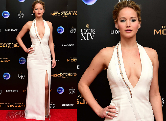 Jennifer Lawrence in Mugler | 'The Hunger Games: Mockingjay - Part 1' UK Premiere After Party