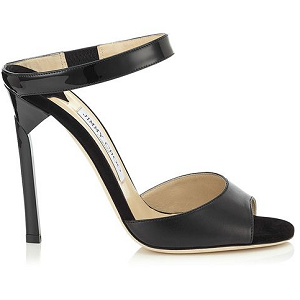 Jimmy Choo DECKLE Nappa Patent Mule Sandals