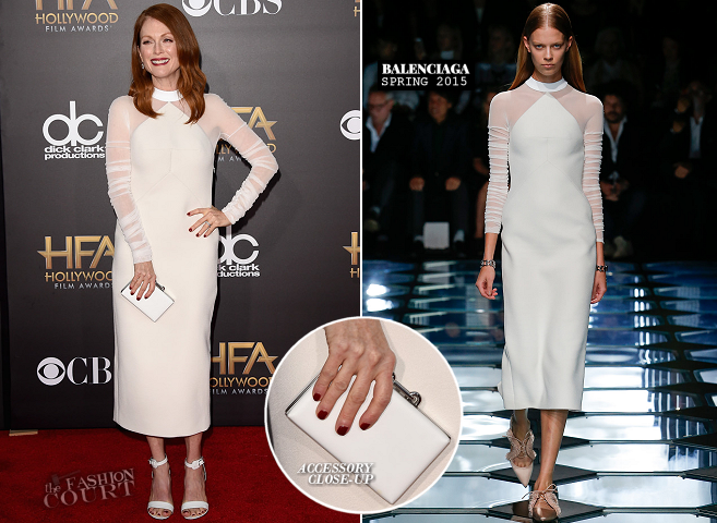 Julianne Moore in Balenciaga | 2014 Hollywood Film Awards