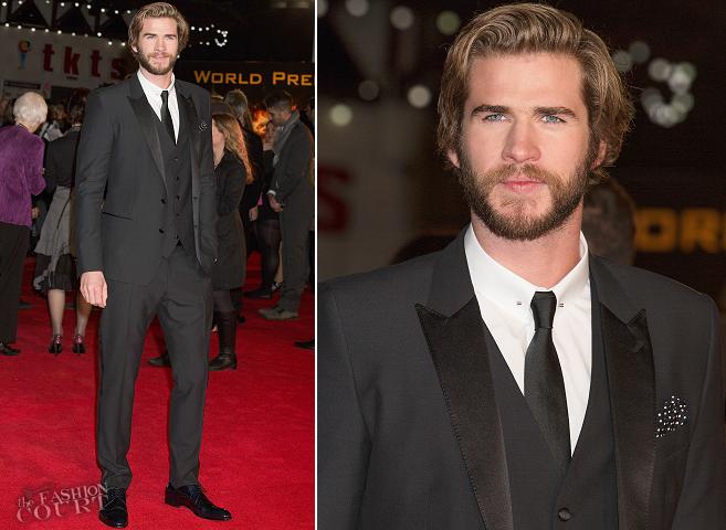 Liam Hemsworth in Dolce & Gabbana | 'The Hunger Games: Mockingjay - Part 1' World Premiere