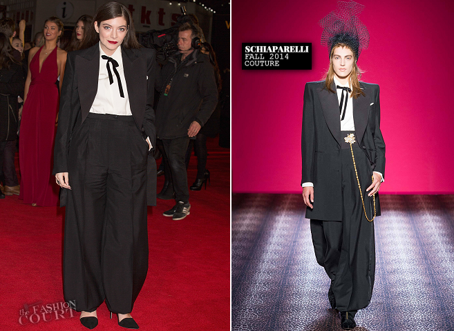 Lorde in Schiaparelli Couture | 'The Hunger Games: Mockingjay - Part 1' World Premiere