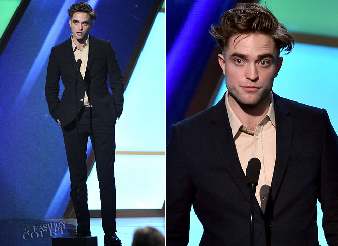 Robert Pattinson in Gucci | 2014 Hollywood Film Awards