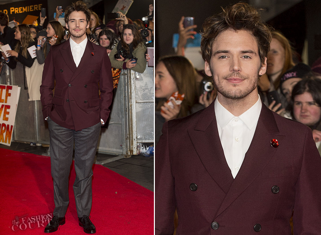 Sam Claflin in Prada | 'The Hunger Games: Mockingjay - Part 1' World Premiere