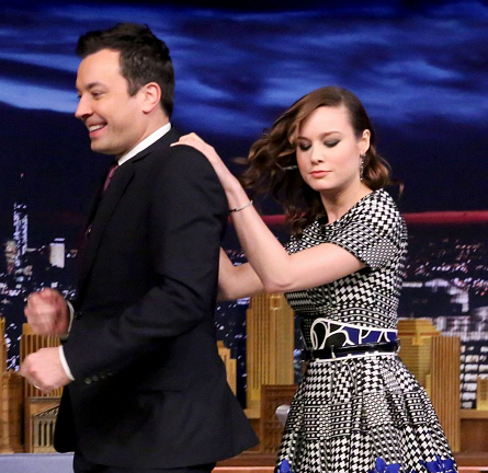Brie Larson in Alexander McQueen | 'The Tonight Show Starring Jimmy Fallon'