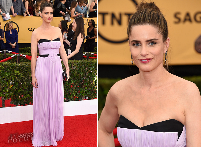 Amanda Peet in J. Mendel | 2015 SAG Awards