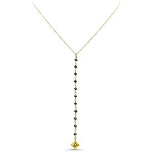 Amrit Jewelry Black Diamond Make Love Lariat Necklace